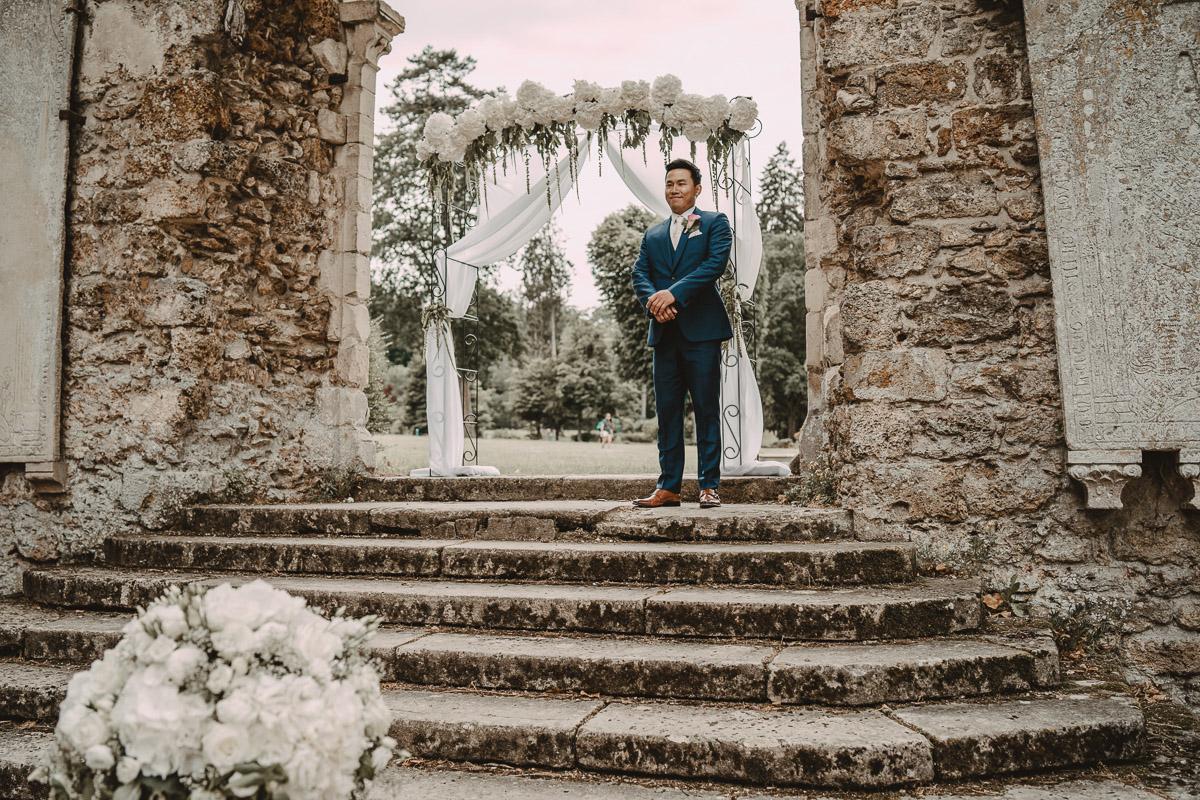 mariage abbaye vaux cernay photographe videaste ile france paris domaine moine salle wedding mariee marie destination photo
