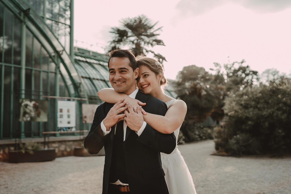 birdy bandit mariage photographe paris serres d auteuil passerelle debilly 6 - Séance mariage Day After au jardin botanique des Serres D'Auteuil de Paris