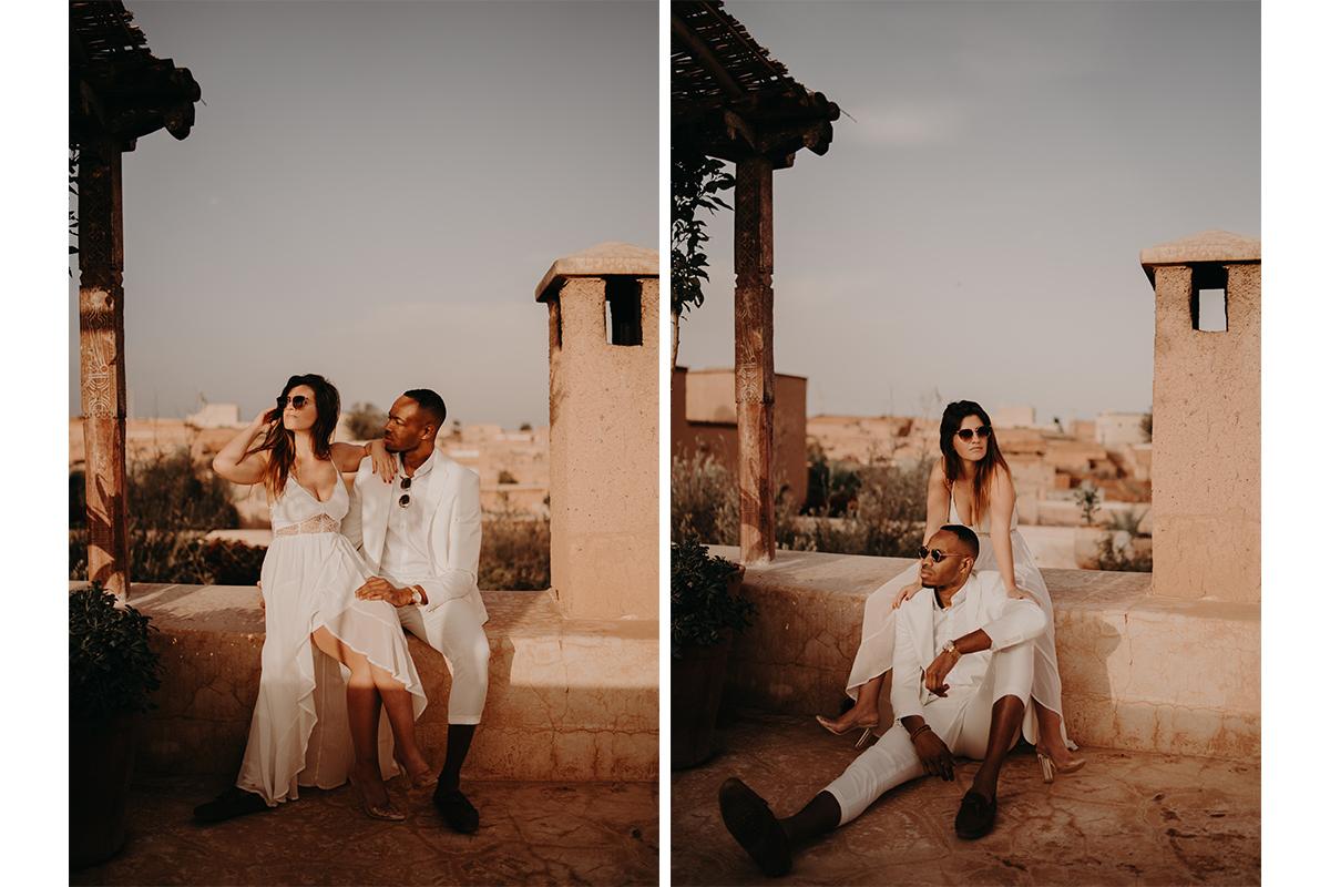 laurene and the wolf marrakech elopement 10 - Wedding - Désert d'Agafay et jardin Majorelle - Un elopement à Marrakech