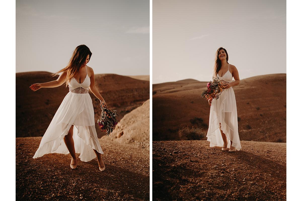 laurene and the wolf marrakech elopement 13 - Wedding - Désert d'Agafay et jardin Majorelle - Un elopement à Marrakech