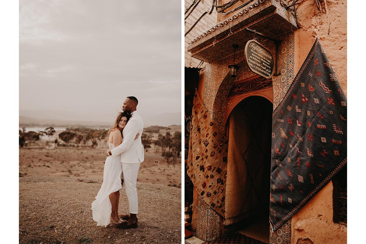 laurene and the wolf marrakech elopement 20 - Wedding - Désert d'Agafay et jardin Majorelle - Un elopement à Marrakech