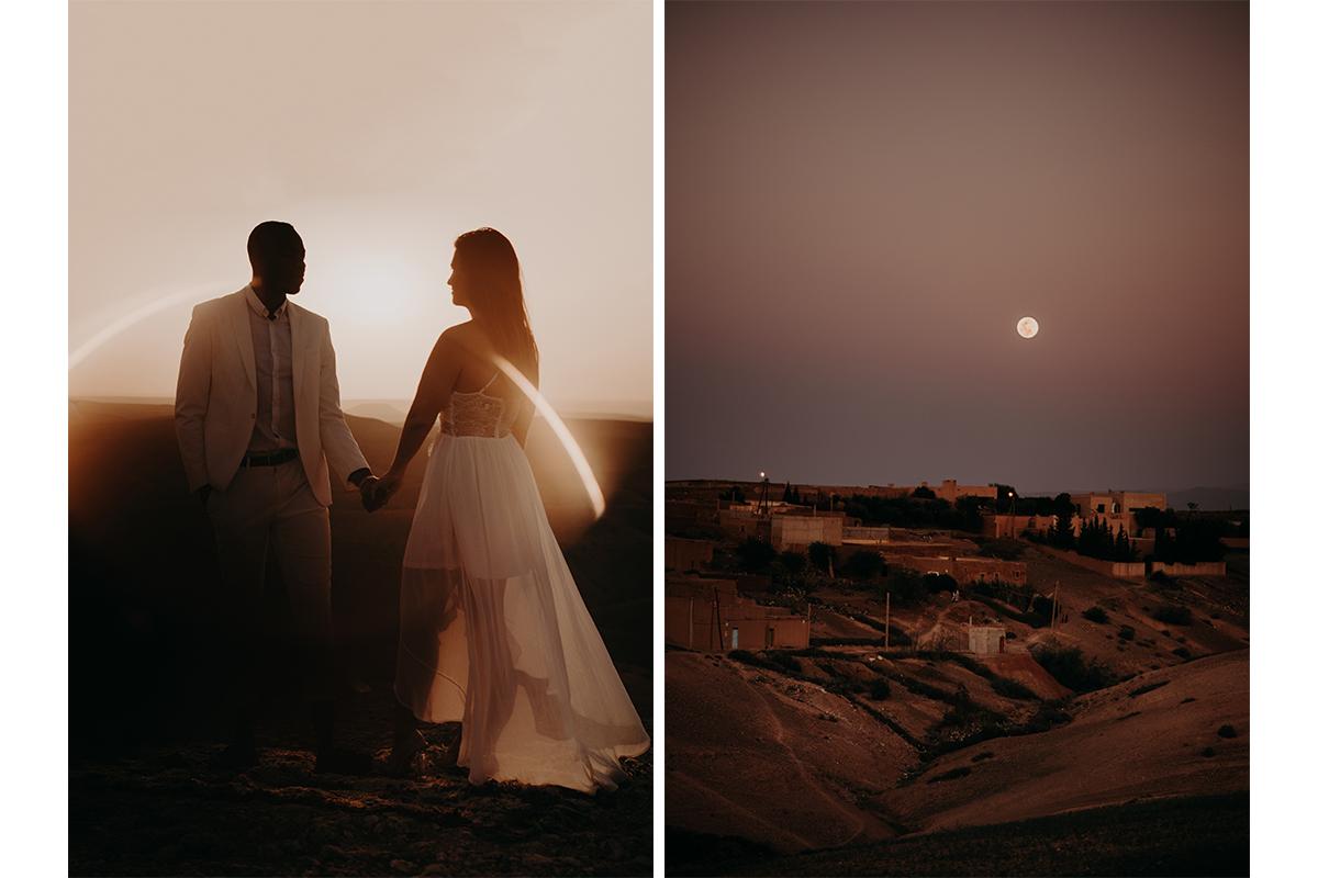 laurene and the wolf marrakech elopement 27 - Wedding - Désert d'Agafay et jardin Majorelle - Un elopement à Marrakech