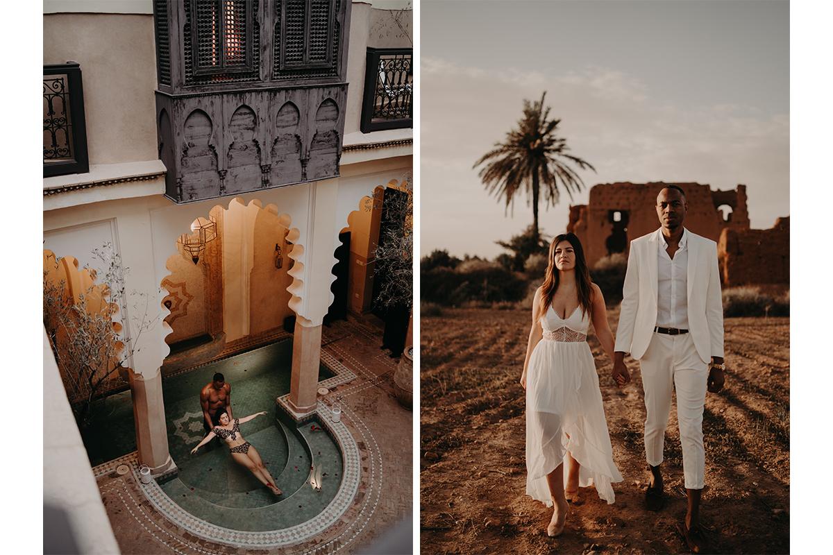 laurene and the wolf marrakech elopement 5 - Wedding - Désert d'Agafay et jardin Majorelle - Un elopement à Marrakech