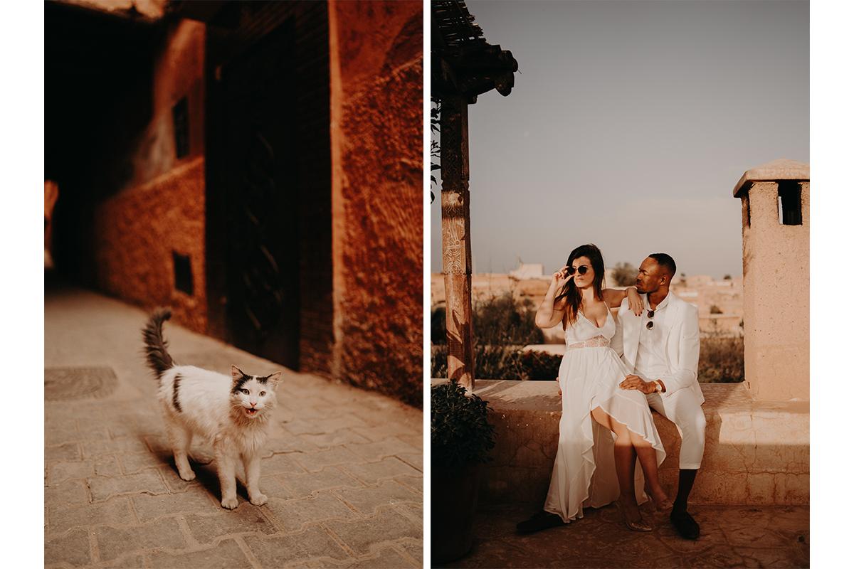 laurene and the wolf marrakech elopement 8 - Wedding - Désert d'Agafay et jardin Majorelle - Un elopement à Marrakech