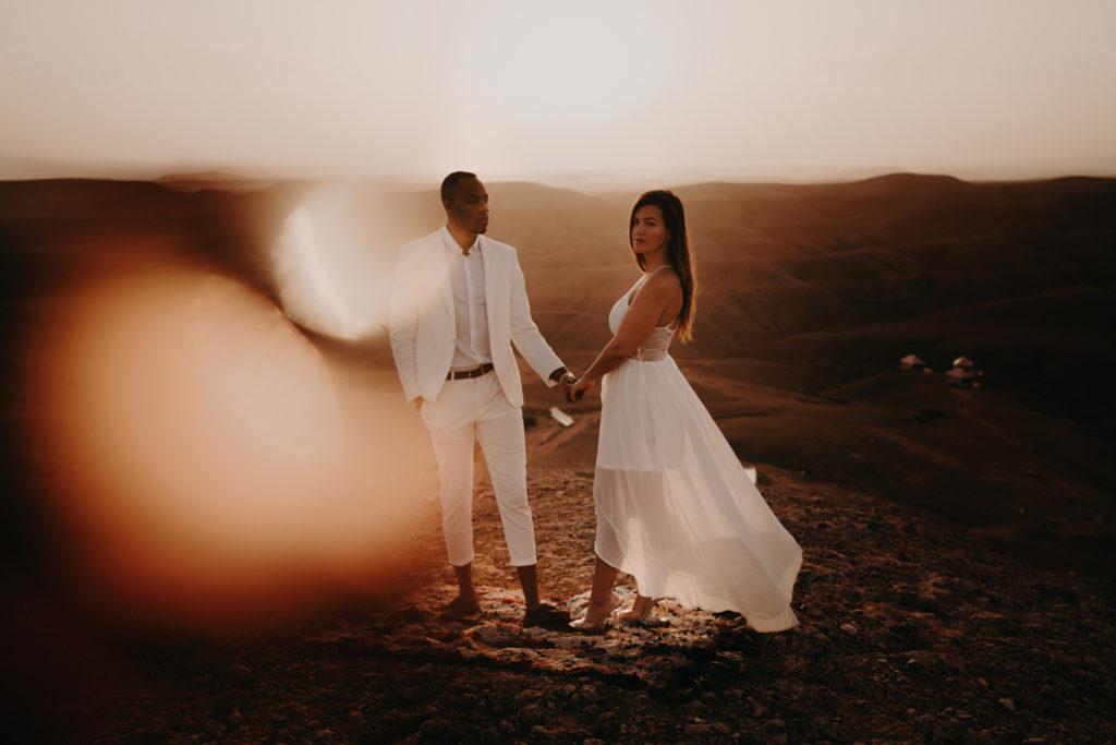 elopement marrakech mariage destination wedding europe oriental marrakesh maroc laurene and the wolf photographe videaste majorelle riad agafay