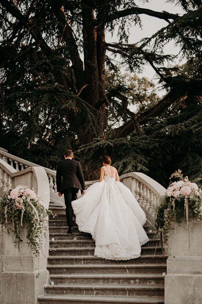 Mariage chateau de bouffémont wedding paris France french castle pronovias princess dress