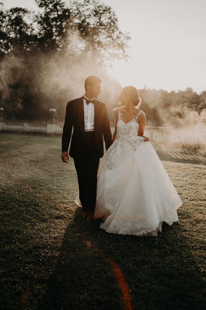 fumigène smoke bombs mariage coloré