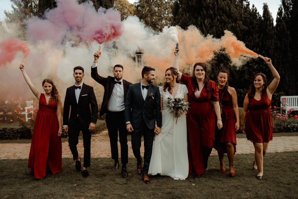 laurene and the wolf fumigenes smoke bombs 26 1024x683 - Fumigènes de couleur pour votre mariage