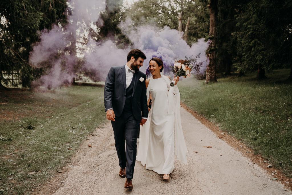 laurene and the wolf fumigenes smoke bombs 8 1024x683 - Fumigènes de couleur pour votre mariage