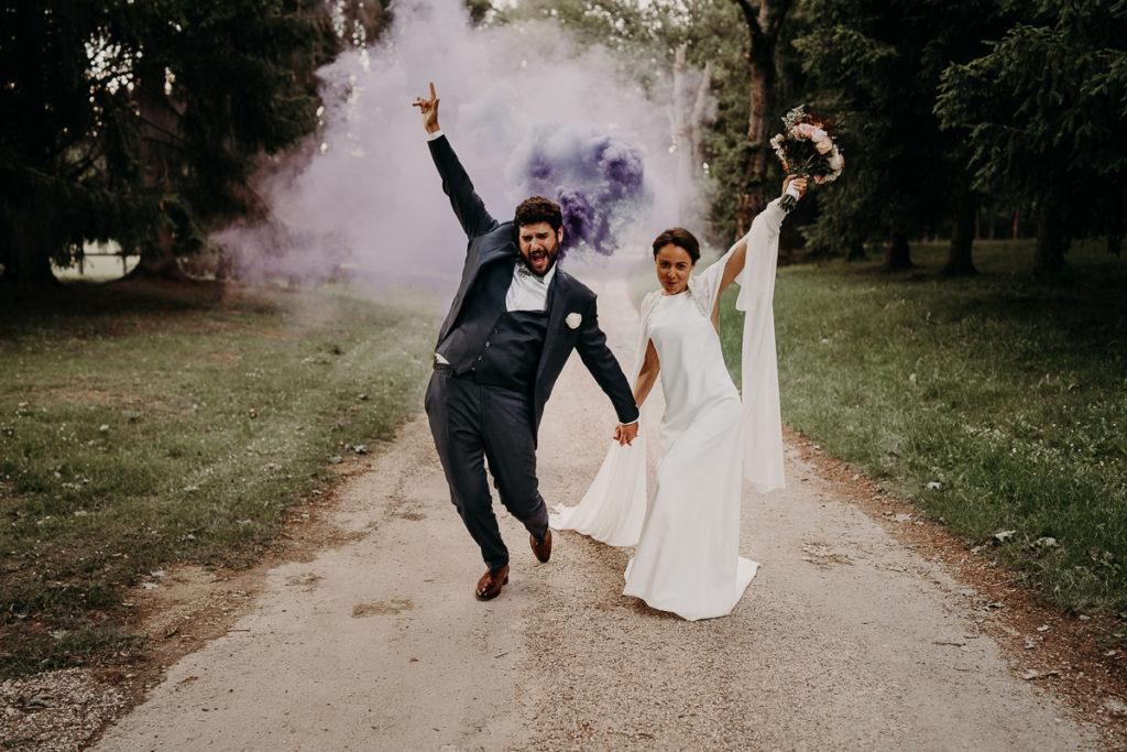 laurene and the wolf fumigenes smoke bombs 9 1024x683 - Fumigènes de couleur pour votre mariage