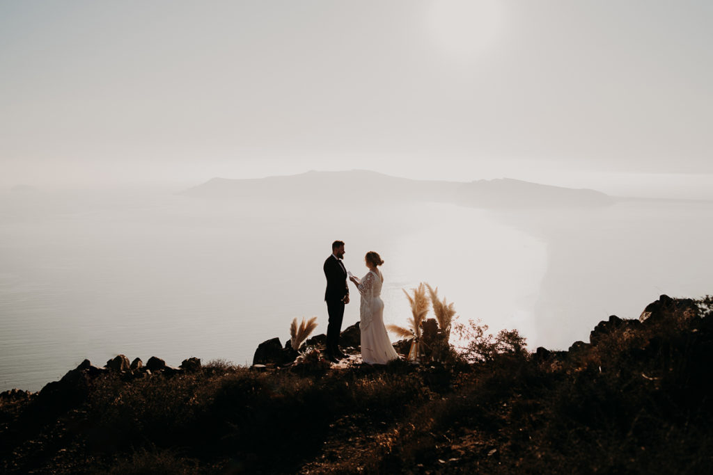 laurene and the wolf elopement santorin julia and evita 106 1 1024x683 - Santorini elopement : Katie + James
