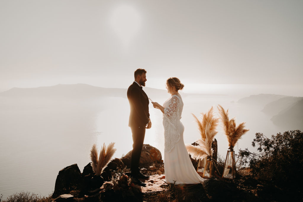 laurene and the wolf elopement santorin julia and evita 107 1 1024x683 - Santorini elopement : Katie + James