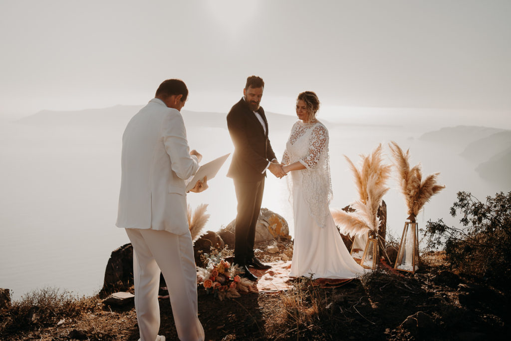 laurene and the wolf elopement santorin julia and evita 109 1 1024x683 - Santorini elopement : Katie + James