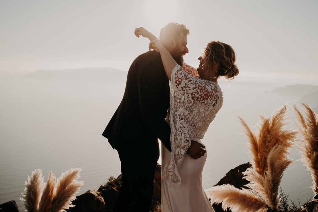 laurene and the wolf elopement santorin julia and evita 115 1024x683 - Santorini elopement : Katie + James