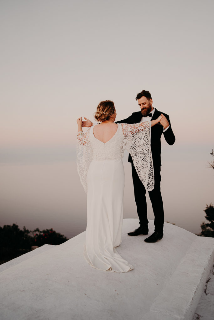 laurene and the wolf elopement santorin julia and evita 152 683x1024 - Santorini elopement : Katie + James