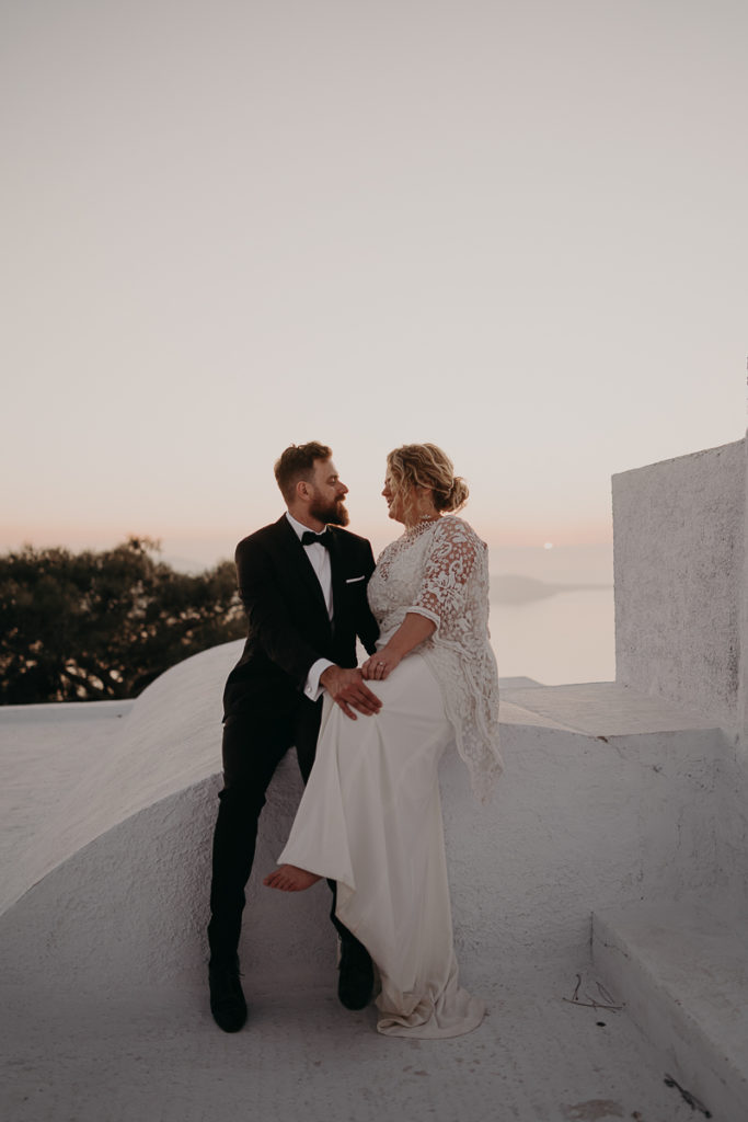 laurene and the wolf elopement santorin julia and evita 155 683x1024 - Santorini elopement : Katie + James