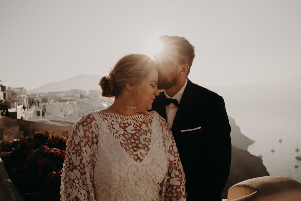 laurene and the wolf elopement santorin julia and evita 193 1024x683 - Santorini elopement : Katie + James