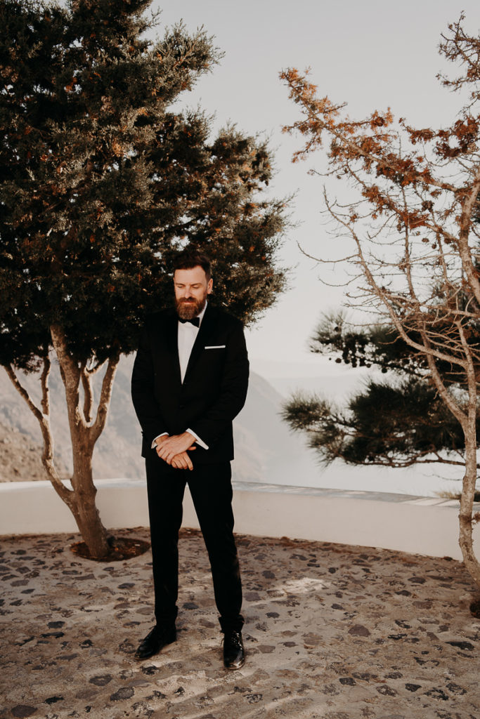 laurene and the wolf elopement santorin julia and evita 49 1 683x1024 - Santorini elopement : Katie + James