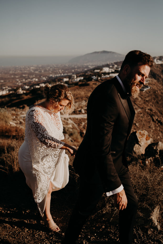 laurene and the wolf elopement santorin julia and evita 85 1 683x1024 - Santorini elopement : Katie + James