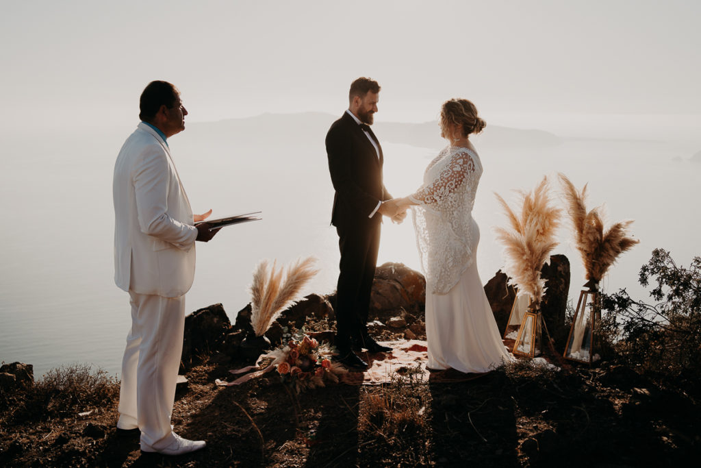 laurene and the wolf elopement santorin julia and evita 87 1 1024x683 - Santorini elopement : Katie + James