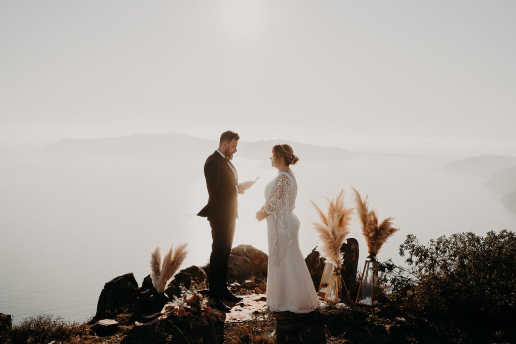 laurene and the wolf elopement santorin julia and evita 92 1 1024x683 - Santorini elopement : Katie + James