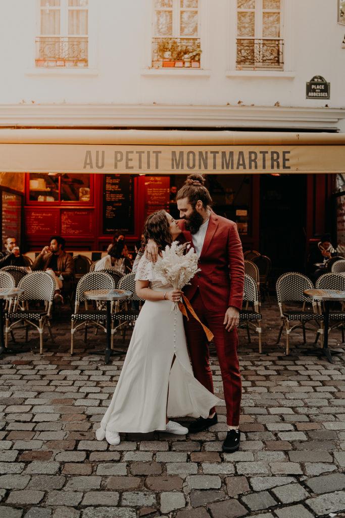 mariage paris urbain boheme 289 683x1024 - Mariage bohème et urbain à Paris