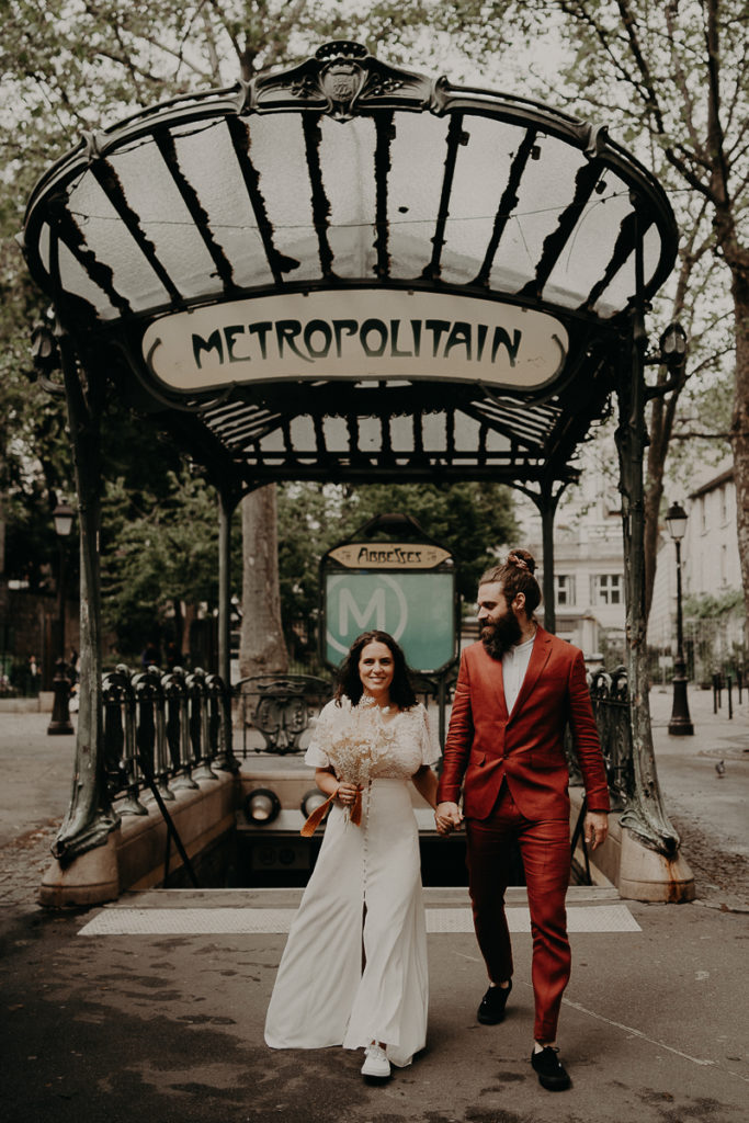 mariage paris urbain boheme 308 683x1024 - Mariage bohème et urbain à Paris