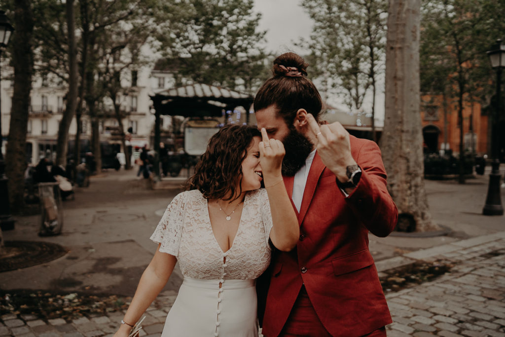 mariage paris urbain boheme 321 1024x683 - Mariage bohème et urbain à Paris
